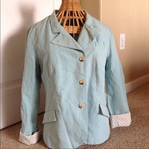 Sundance Light Blue Linen Jacket
